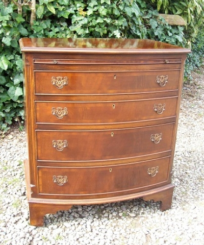 A Bow Front Chest of Drawers -SOLD-