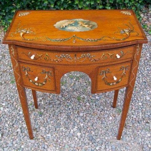 A Victorian Satinwood Lowboy