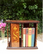 A 19th Century Rosewood Revolving Bookcase