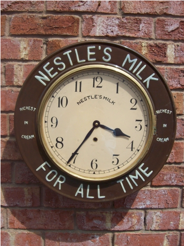 Nestle's 8 Day Wall Clock