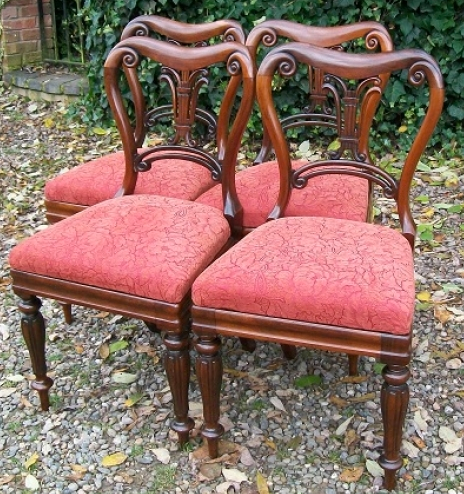 A Set of 4 Regency Rosewood Chairs -SOLD-