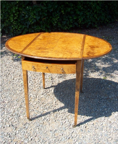 CFA 6149 - Burr Elm Pembroke Table