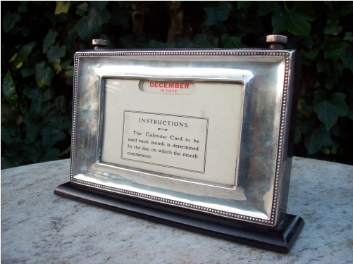 Silver Framed Desk Calendar -SOLD-