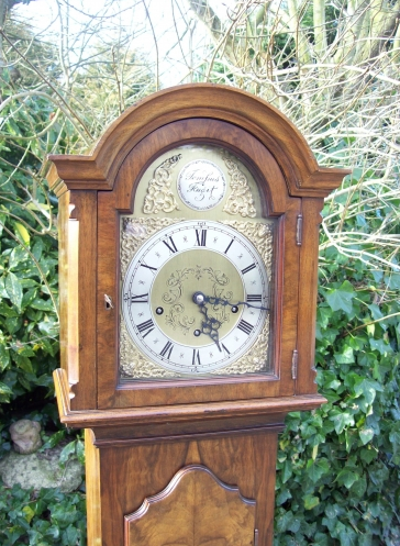 Burr Walnut Grandmother Clock -SOLD-