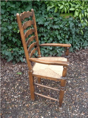 A Set of 8 Ladder Back Chairs -SOLD-