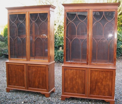 A Pair of Mahogany Bookcases/Cabinets