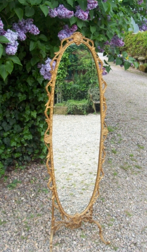 Gilt Cheval Mirror