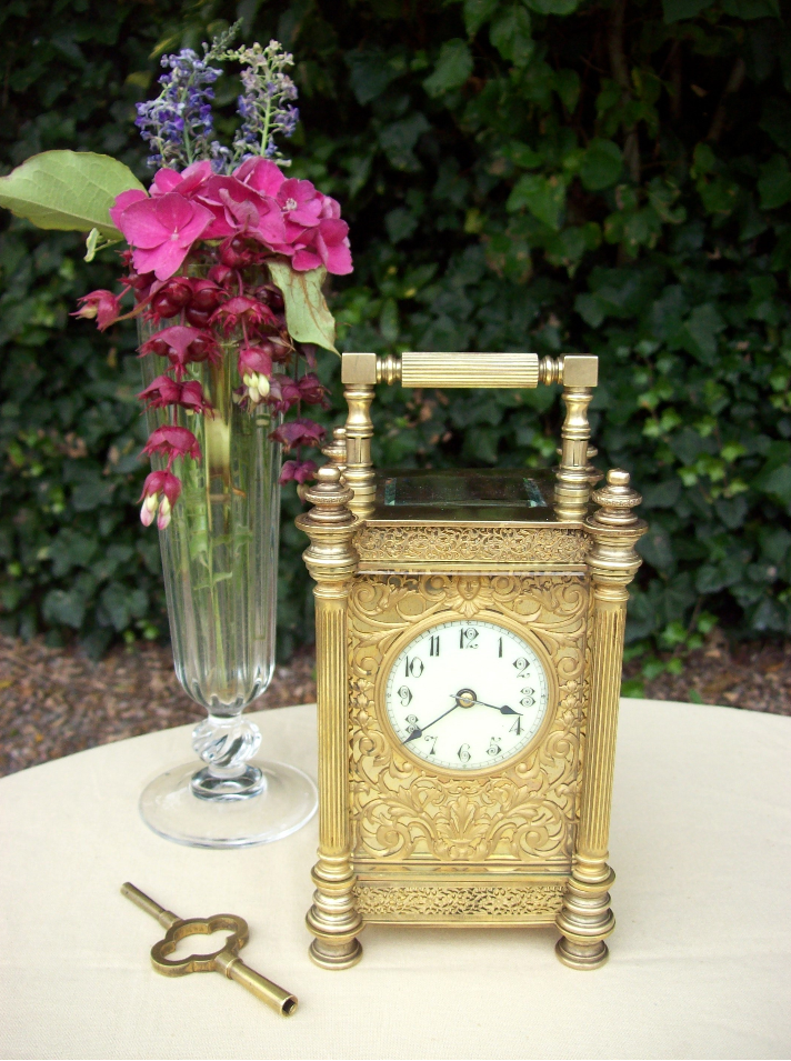 An 8 Day Brass Carriage Clock -SOLD-