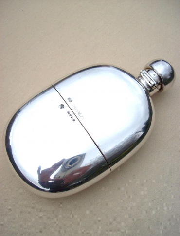 Silver Hip Flask & Cup -SOLD-