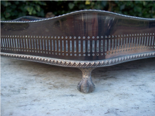 Silver Plated Gallery Tray -SOLD-