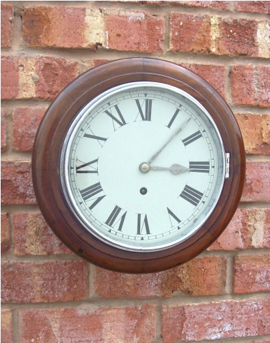 8 Day Mahogany Wall Clock -SOLD-