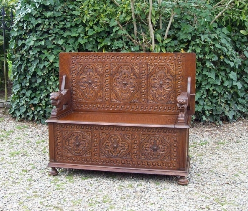 Oak Monks Bench -SOLD-