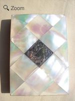 A Victorian Mother of Pearl Card Case