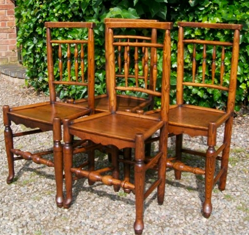 A Set of 4 Ash & Elm Chairs -SOLD-