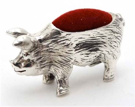 Silver Pig Pin Cushion -SOLD-