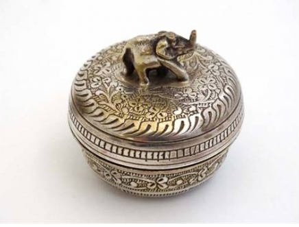 Silver Plate Pill Box -SOLD-