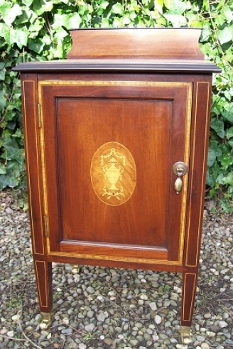 A Small Edwardian Inlaid Cabinet