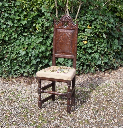 A Early Oak Hall Chair