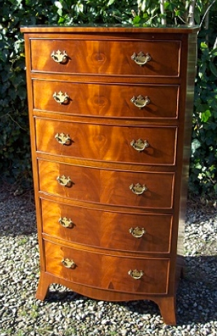 Mahogany Tallboy Chest of Drawers -SOLD-