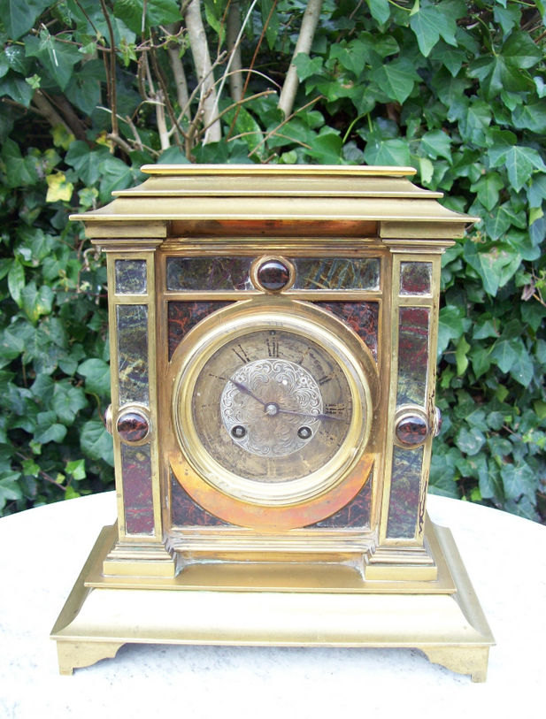 Brass & Marble Mantle Clock -SOLD-