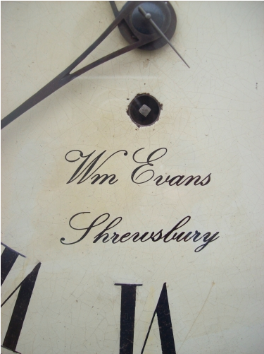 8 Day Wall Clock Evans (Shrewsbury)