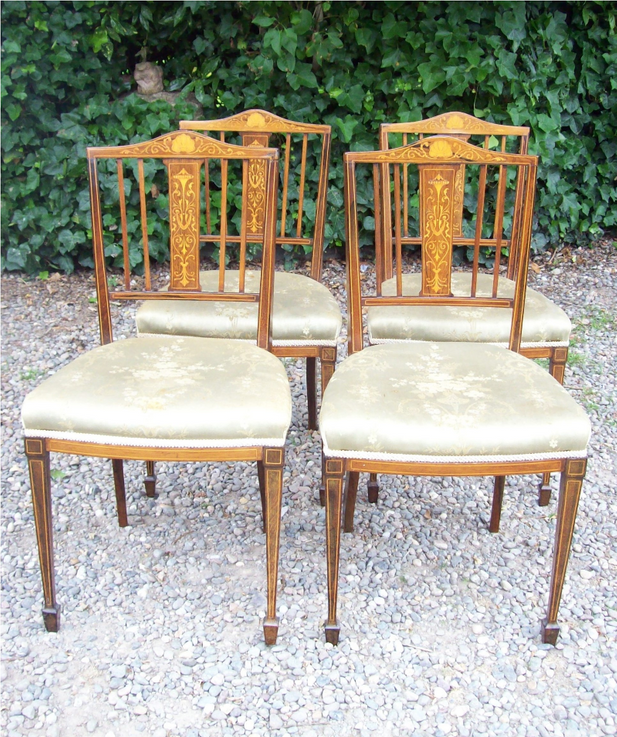 A Set of 4 Rosewood James Shoolbred Chairs