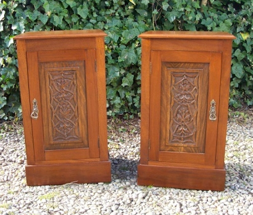 A Pair of Mahogany Bedside Cabinets