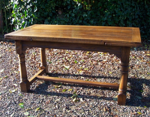 Oak Extending Refectory Table -SOLD-