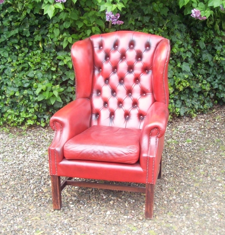 Red Wing Back Chair -SOLD-