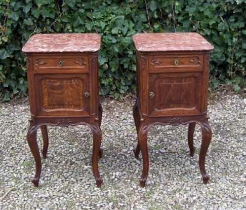 A Pair of French Bedside Cabinets