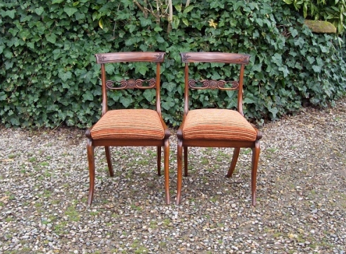Pair Rosewood Chairs -SOLD-