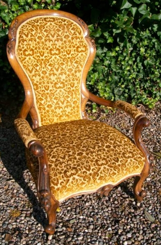 A Walnut Nursing Armchair