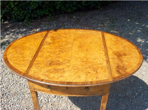 Burr Elm Pembroke Table