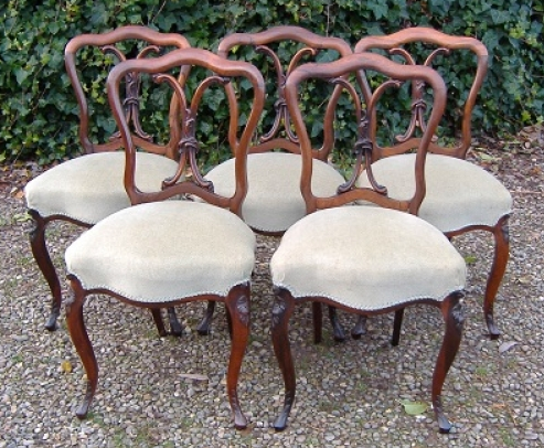 5 Regency Rosewood Chairs -SOLD