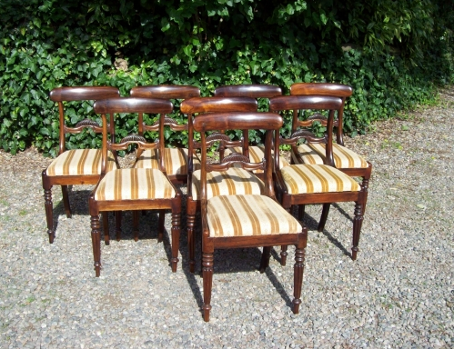 A Set of 8 Rosewood Chairs