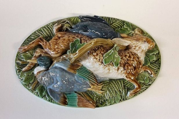 A Victorian Minton Majolica Game Tureen -SOLD-