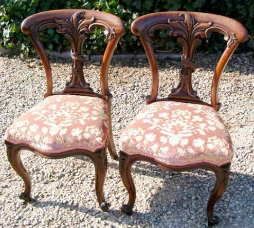 A Pair of Mahogany Chairs