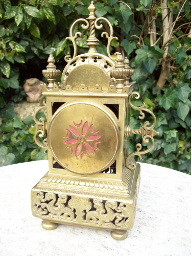 A French Brass Mantle Clock