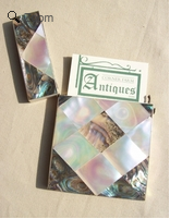 A Mother of Pearl and Abalone Card Case