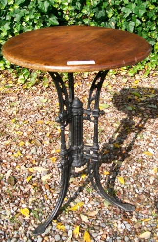 Cast Iron & Mahogany Table