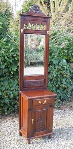 Mahogany Hall Stand with Mirror -SOLD-