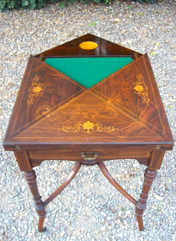 Rosewood Card Table -SOLD-