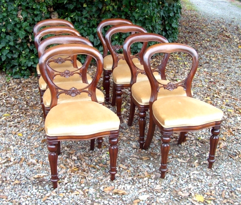 A Set of 8 Balloon Back Chairs -SOLD-
