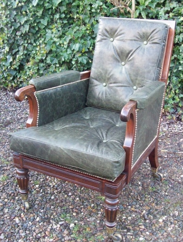 A Rosewood Library/Bergere Chair