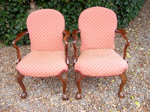 Pair Edwardian Chairs -SOLD-