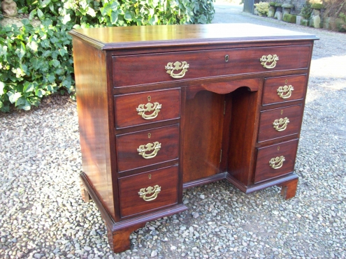 A Mahogany Knee Hole Desk