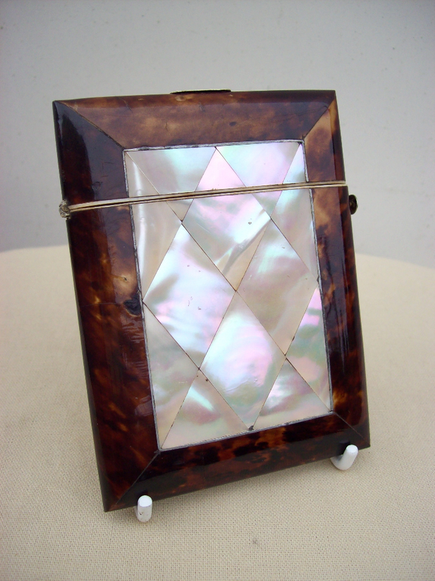 A Victorian Tortoiseshell Card Case
