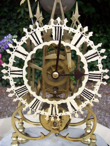 An 8 Day Skeleton Clock