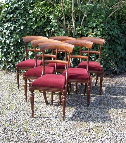 A Set of 6 Rosewood Chairs