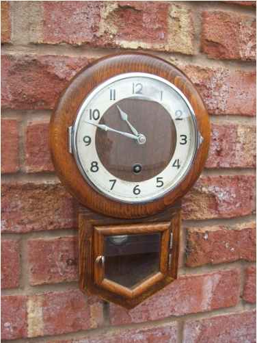 8 Day Miniature Wall Clock -SOLD-